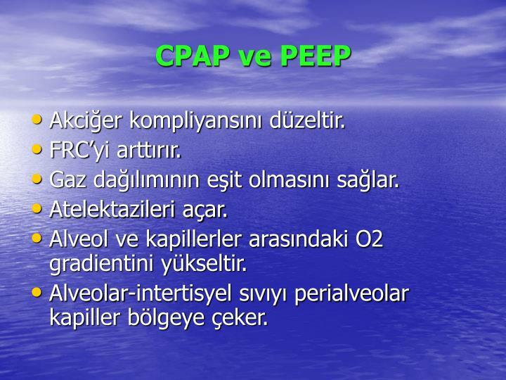 CPAP ve PEEP