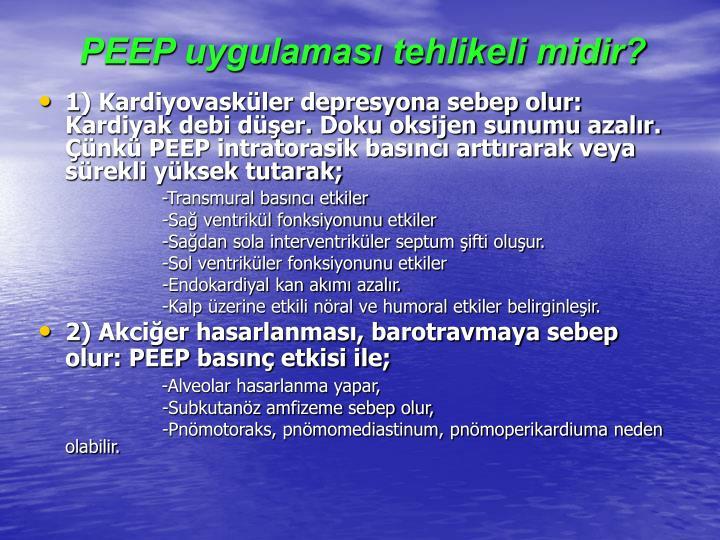 PEEP uygulaması tehlikeli midir?