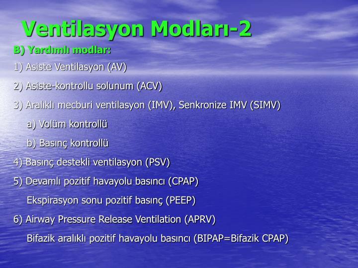 Ventilasyon Modları-2