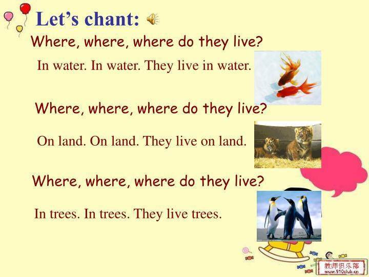 Let's chant: