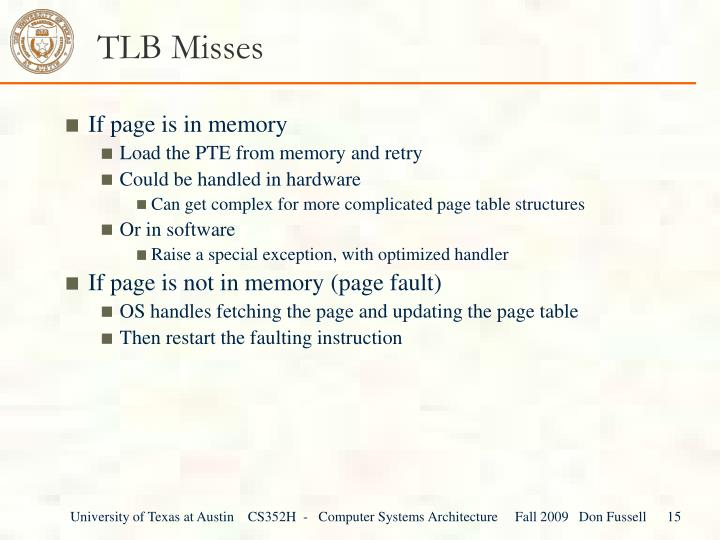 TLB Misses