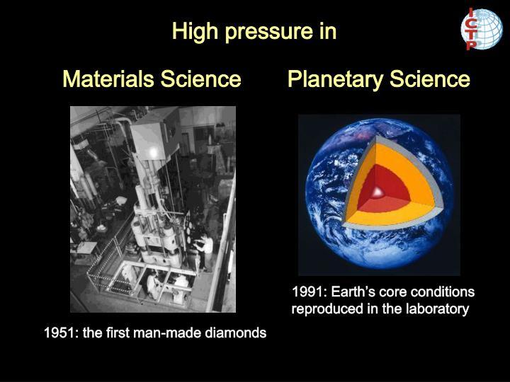 High pressure in