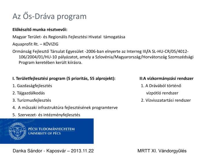 Az Ős-Dráva program