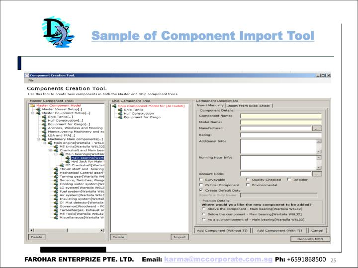 Sample of Component Import Tool