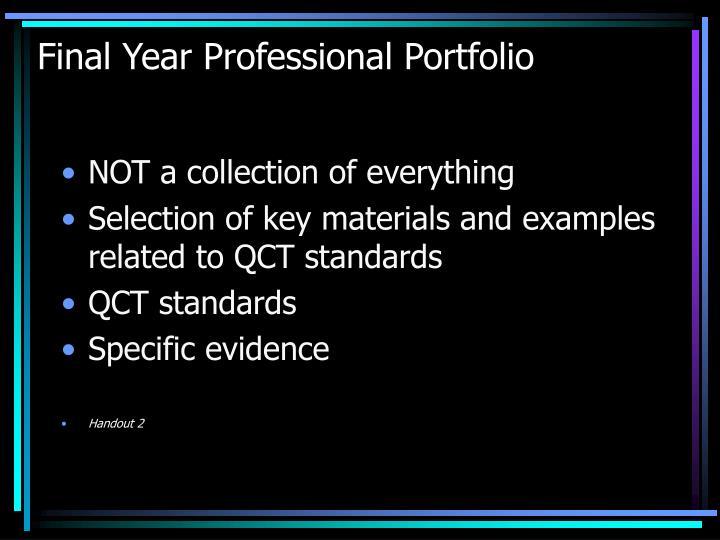 Final Year Professional Portfolio
