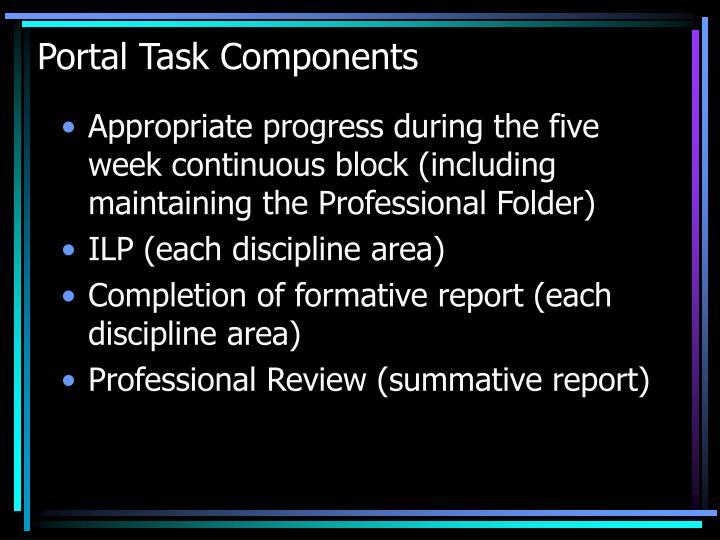 Portal Task Components