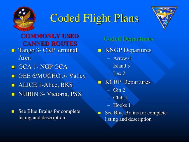 Coded Flight Plans