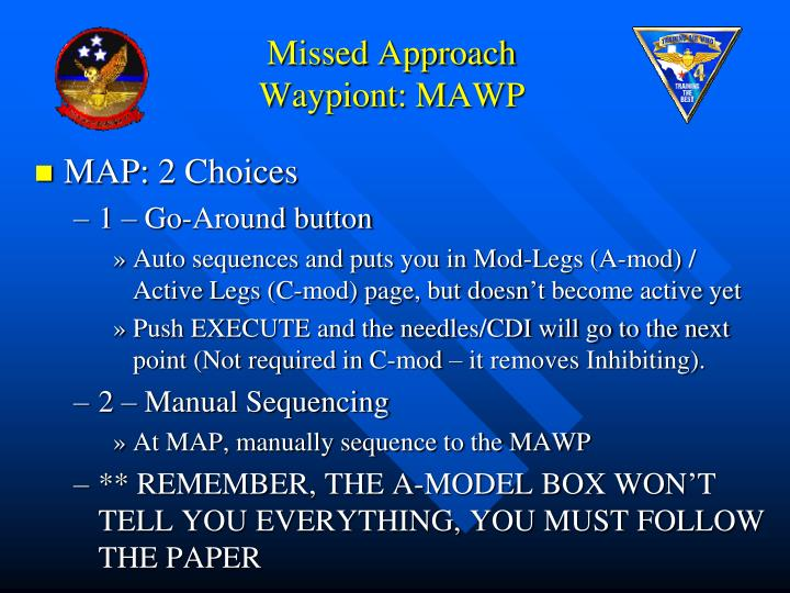Missed Approach Waypiont: MAWP