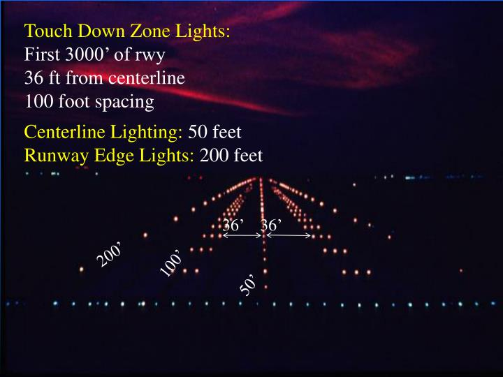 Touch Down Zone Lights: