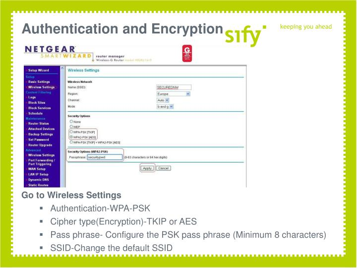 Authentication and Encryption