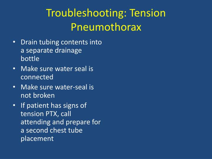 Troubleshooting: Tension