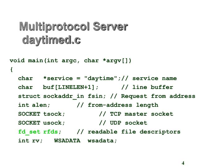 Multiprotocol Server