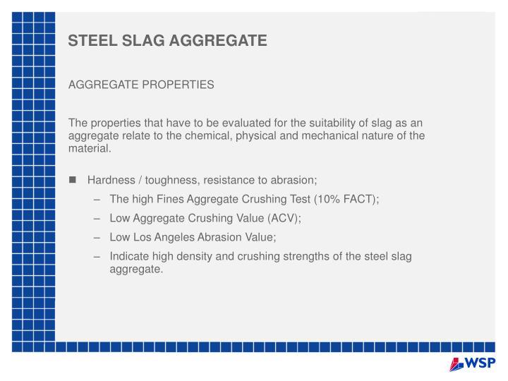 STEEL SLAG AGGREGATE