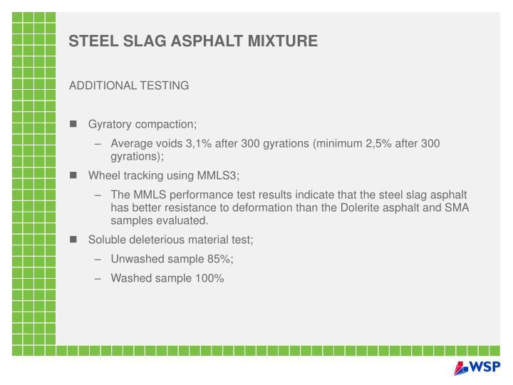 STEEL SLAG ASPHALT MIXTURE