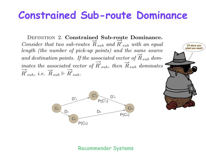 Constrained Sub-route Dominance