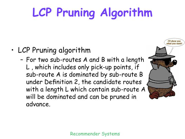 LCP Pruning Algorithm