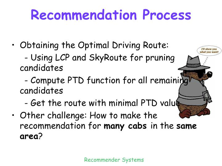 Recommendation Process