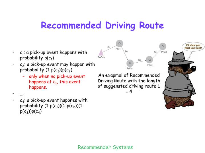 Recommended Driving Route