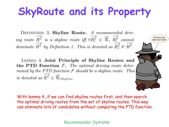 SkyRoute and its Property