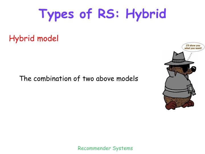 Types of RS: Hybrid