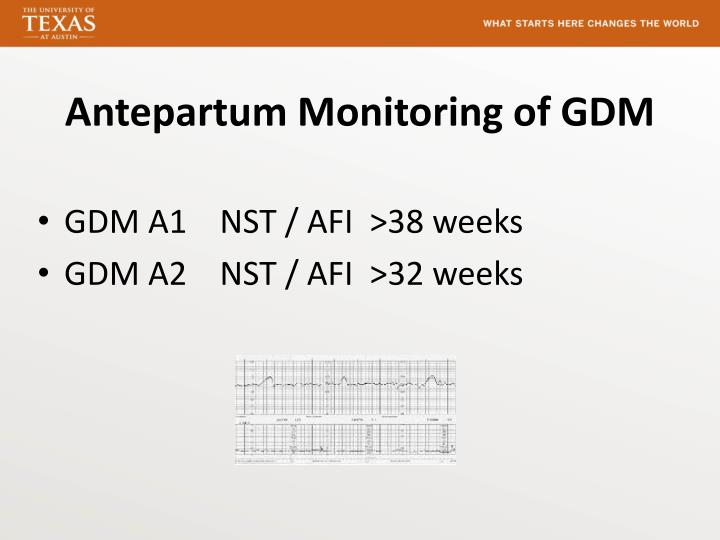 Antepartum Monitoring of GDM