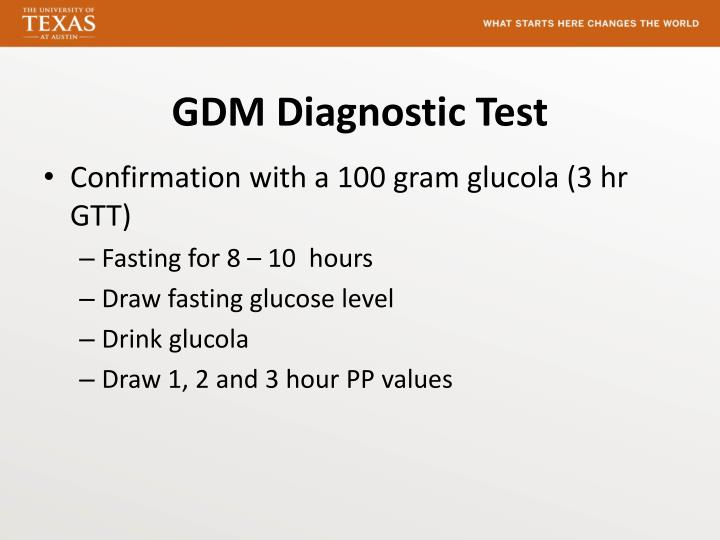 GDM Diagnostic Test