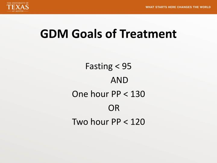 GDM Goals of Treatment