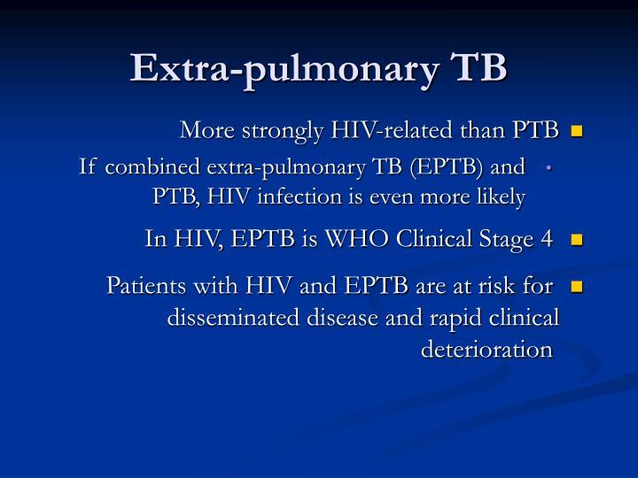 Extra-pulmonary TB
