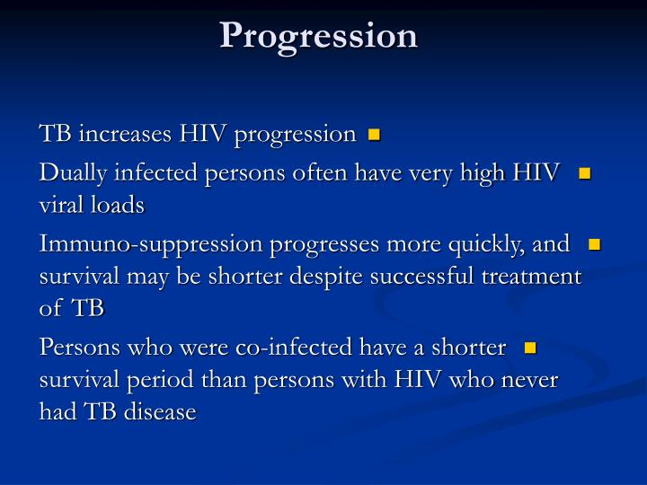 The Effects of TB on HIV Progression