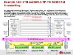 example 1 2 eth and mpls tp pw ncm oam interworking