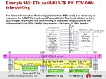 example 1 2 eth and mpls tp pw tcm oam interworking