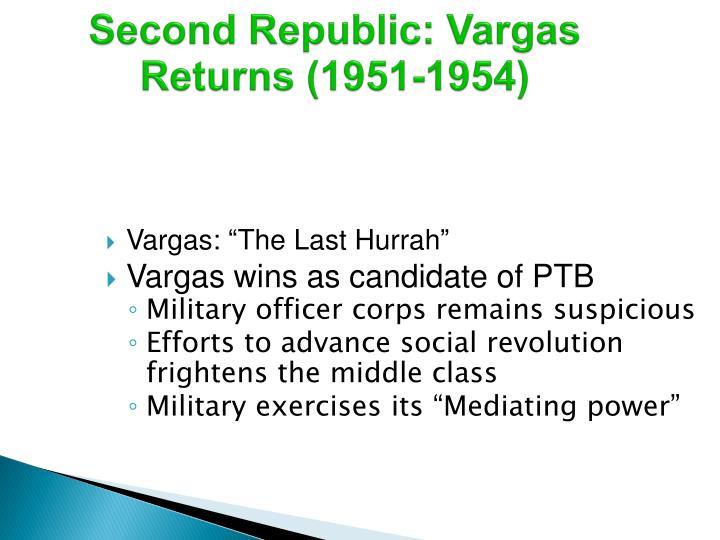 Second Republic: Vargas Returns (1951-1954)