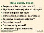 data quality check