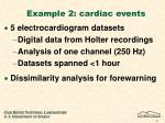 example 2 cardiac events