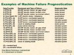 examples of machine failure prognostication