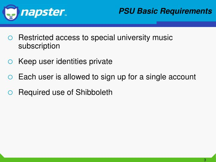 PSU Basic Requirements