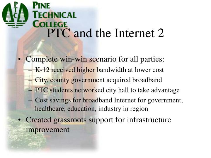 PTC and the Internet 2