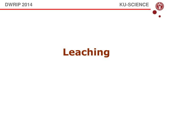 DWRIP 2014                                                                   KU-SCIENCE