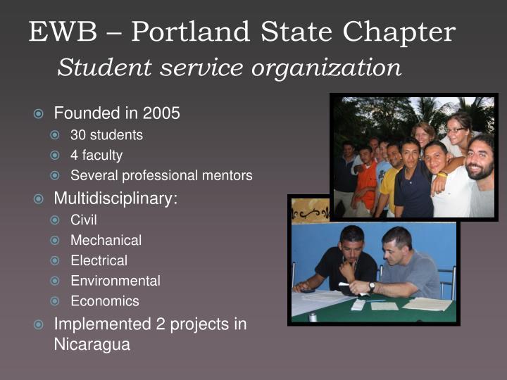EWB – Portland State Chapter