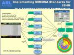 implementing mimosa standards for ishm in a services oriented architecture soa