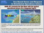 sea based sense and respond to distributed operations ashore