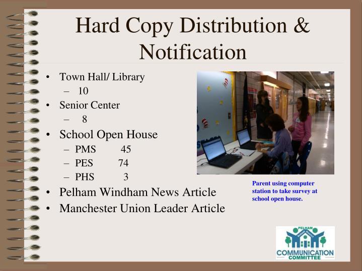 Hard Copy Distribution & Notification