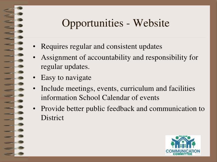 Opportunities - Website