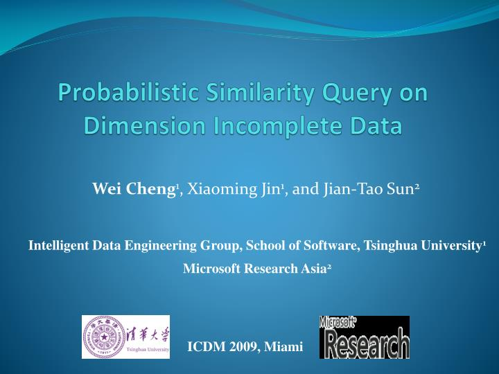 Probabilistic Similarity Query on Dimension Incomplete Data