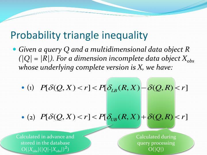 Probability triangle inequality