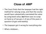 close of amp