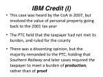 ibm credit i
