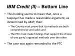 ibm credit ii bottom line