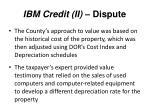 ibm credit ii dispute