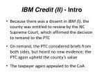 ibm credit ii intro